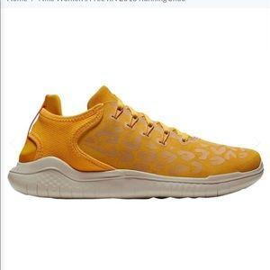 Nike Free Wild Suede Yellow Animal Print Sneakers